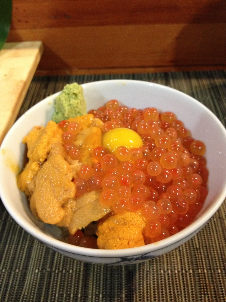 I will tell you all about it:  Uni Ikura Donburi