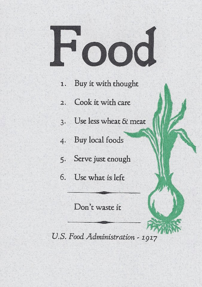 Food for Thought:  U.S. Food Administration 1917 to 2015