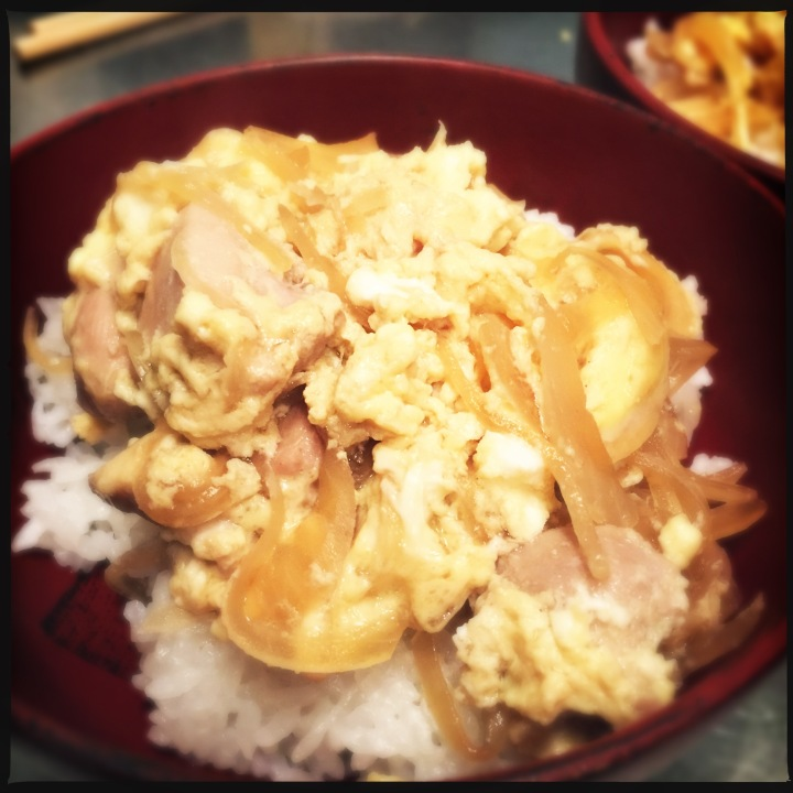 Mother and Child over Rice: Oyako-don